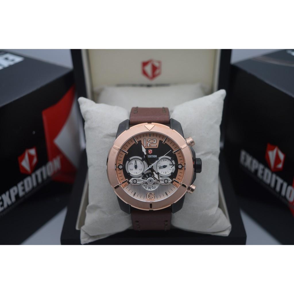 Expedition E6381 Rose Gold Black Leather Brown For Men Original E6372 Shopee Indonesia