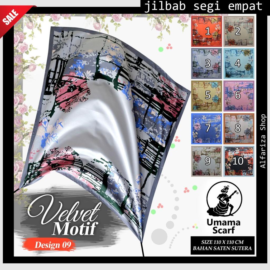 Jilbab Segiempat Motif Bunga Katun Velvet Shopee Indonesia Shabby Chic Sj0004