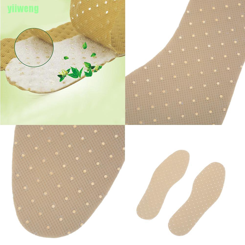 1Pair Peppermint odor Insoles Outdoor Sporting Sweat absorbent Shoe InsoleIJUS
