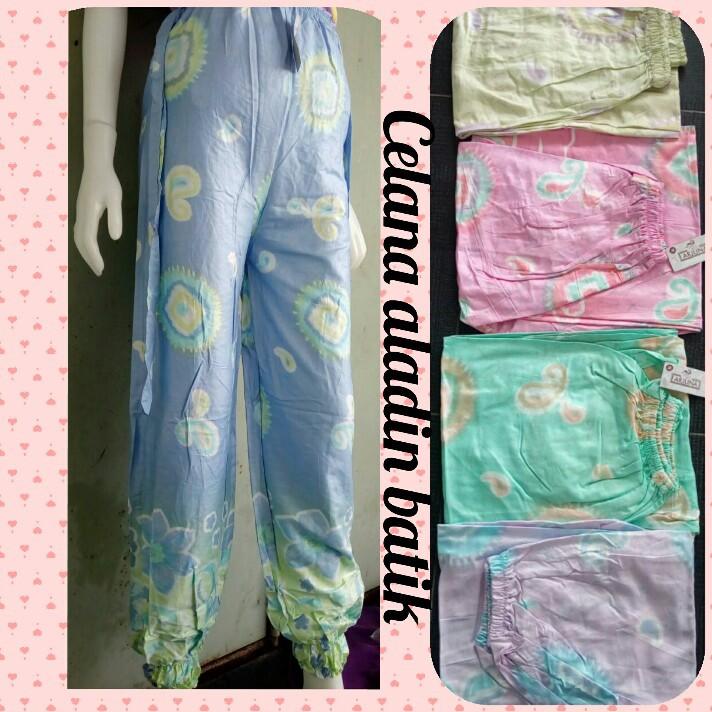 Celana Jogger Batik Rayon Celana Panjang Wanita Motif