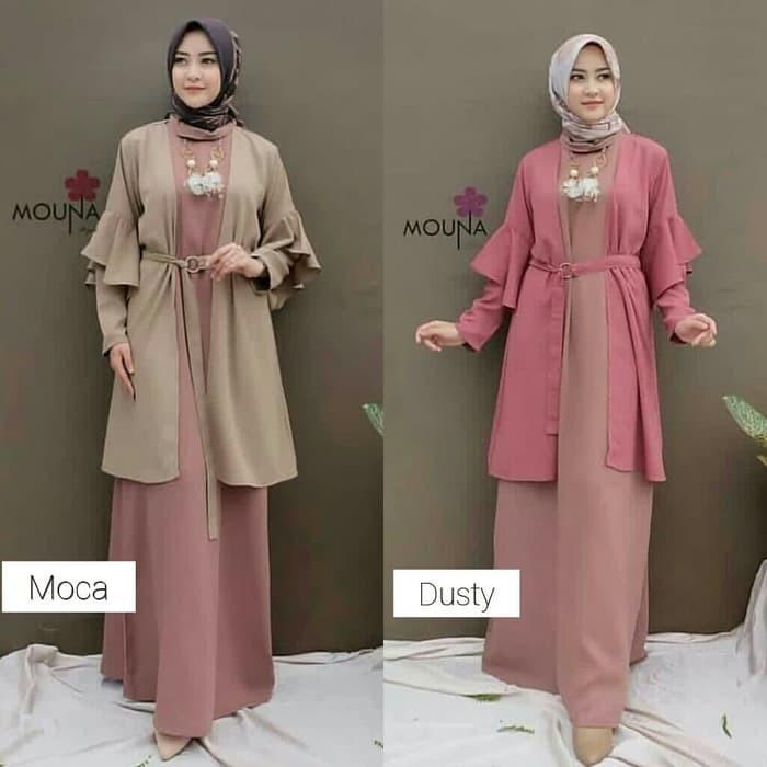 Gamis Lebaran 2020 Remaja Model Gamis Terbaru Trusya Set Baju Stelan Muslim Pakaian Muslima 36tog Shopee Indonesia