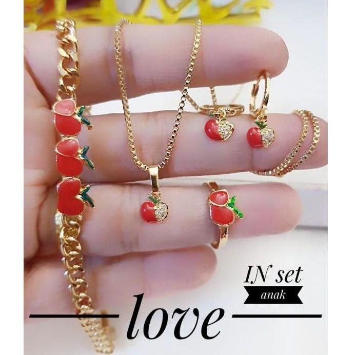 (AGS) Set Perhiasan ANAK Lapis Emas Xuping Gelang Kalung ...