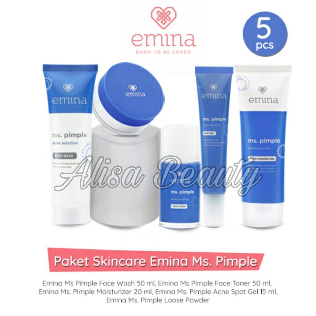 Paket Perawatan Jerawat Original Emina MS PIMPLE - ms pimple Emina 1 Paket Acne Solution
