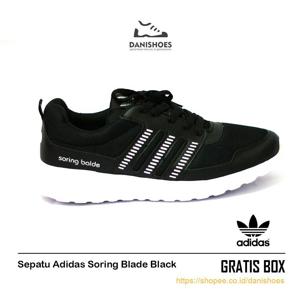 Sepatu nike Sekolah Hitam Cowok Cewek Sneakers Olahraga Pria Wanita ... 5fce09ef40