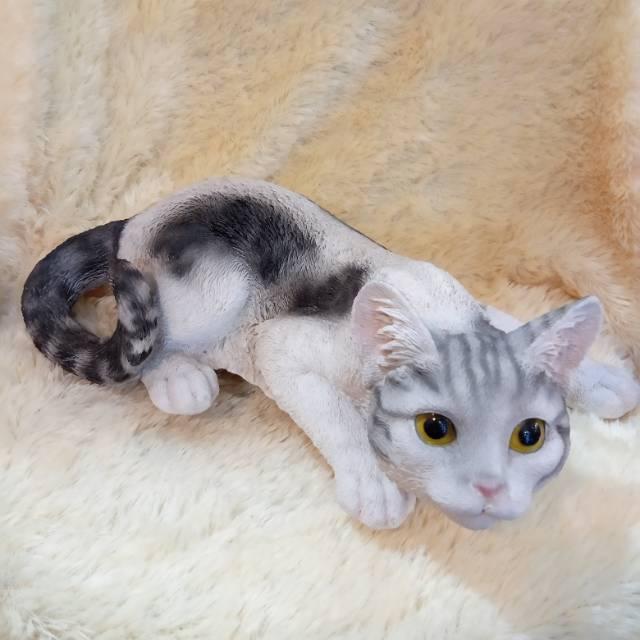 Patung Pajangan Kucing Hitam Putih Shopee Indonesia