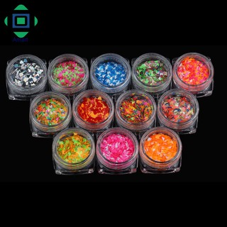 12 Colors DIY Nail Art Sequins With Bottle Diamond Decoration Nails Stickers Manicure Tips thumbnail