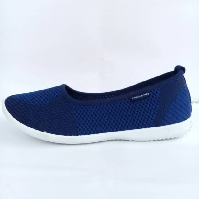 Sepatu Selop Wanita Olahraga New Era Mamik Navy Shopee Indonesia