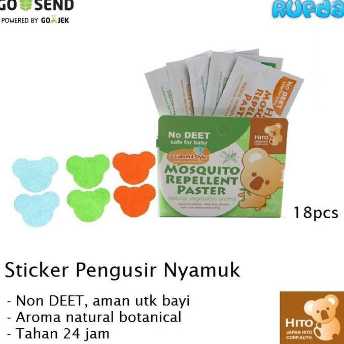 New Hito Sticker Anti Nyamuk /18 Stiker Tempelan Bayi Anak Dewasa QR0682 | Shopee Indonesia