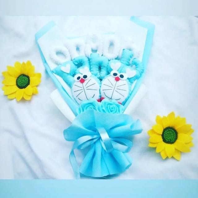 Buket Karakter Buket Planel Buket Bunga Buket Murah Buket Doraemon