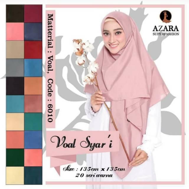 Jilbab Segi Empat Jumbo Azara Shopee Indonesia