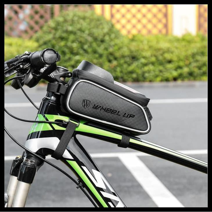 PERLENGKAPAN GOWES WHEEL UP WATERPROOF BICYCLE FRAME BAG