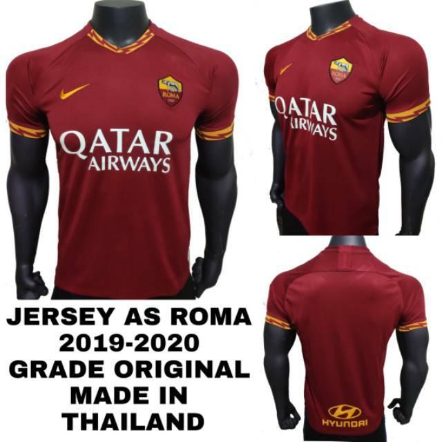 newest collection d07aa 0130d Jersey Bola Kaos As Roma Home 2019-2020 Grade Ori Impor
