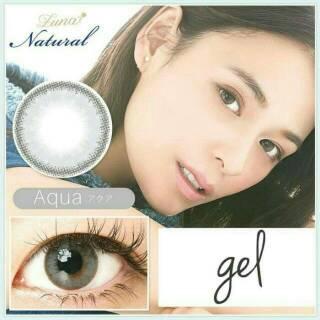 Softlens gel luna naatural soplens soflens kontak lensa mata normal free lens case accecoris wedding