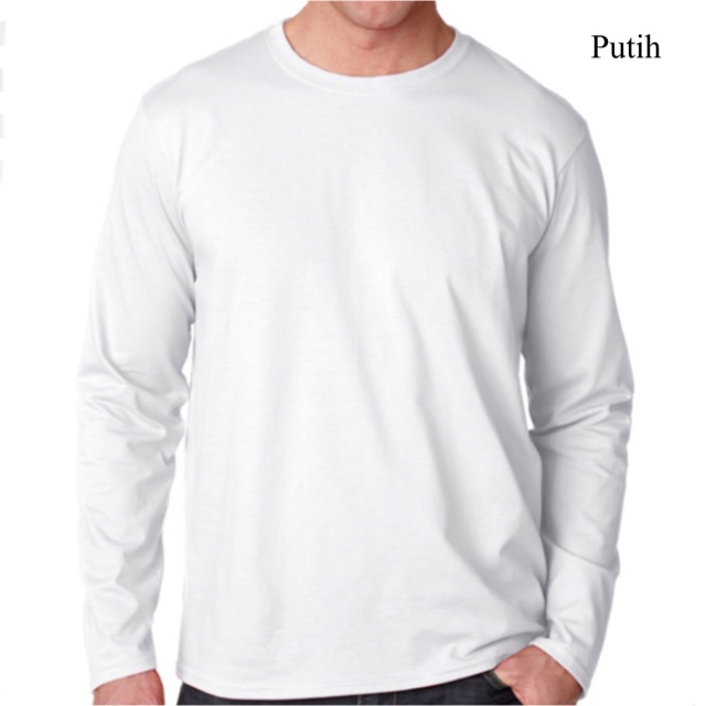Baju Polos Putih Dewasa Kaos Polos Laki Lengan Panjang Xxl Combed 30s Murah Baju Pria Panjang Shopee Indonesia