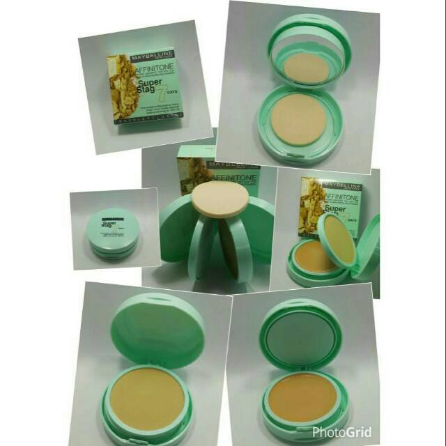 Bedak MAYBELLINE - Affinitone 2in1 Super Stag 7 Day Powder +foundation | Shopee Indonesia