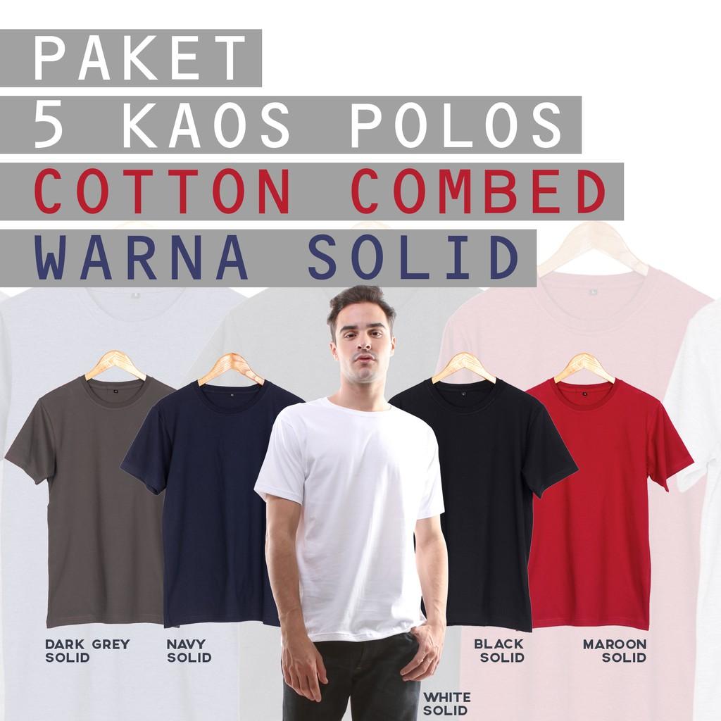 Baju Kaos Polos Lengan Pendek POCKET BLACK MISTY Hitam Misty Saku | Shopee Indonesia