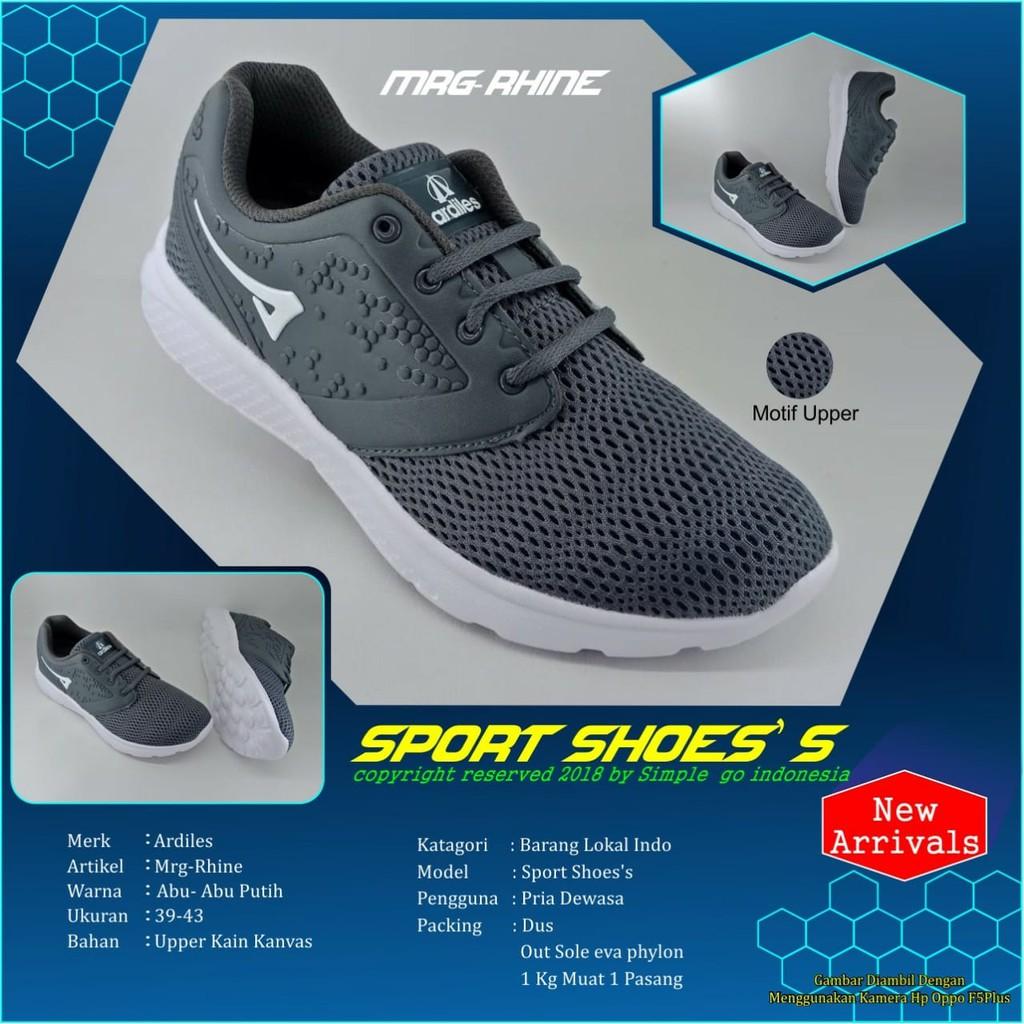 Sepatu Sneakers Women Ando Vanquish Merahmuda Abu 37 39 Shopee Ardiles Chow Running Merah Indonesia