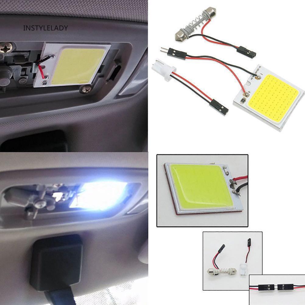 2X 48 Smd Cob Led T10 12V White Light Car Interior Panel Lights Dome Lamp Bul DI