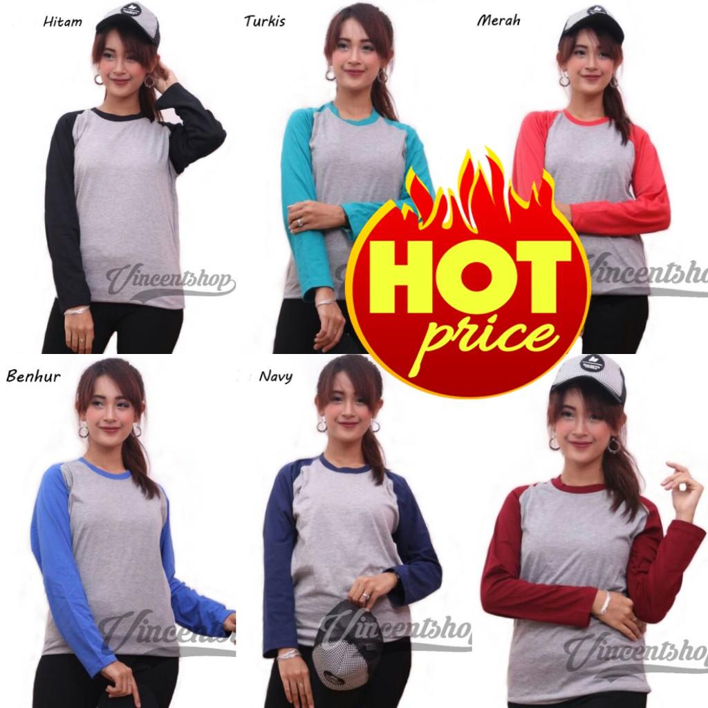 Belle Fashion Kaos L Xxl Jumbo Lengan Panjang Raglan Warna Murah Ada Wanita Pendek Motif Great Things Navy Xl Kekinian Shopee Indonesia