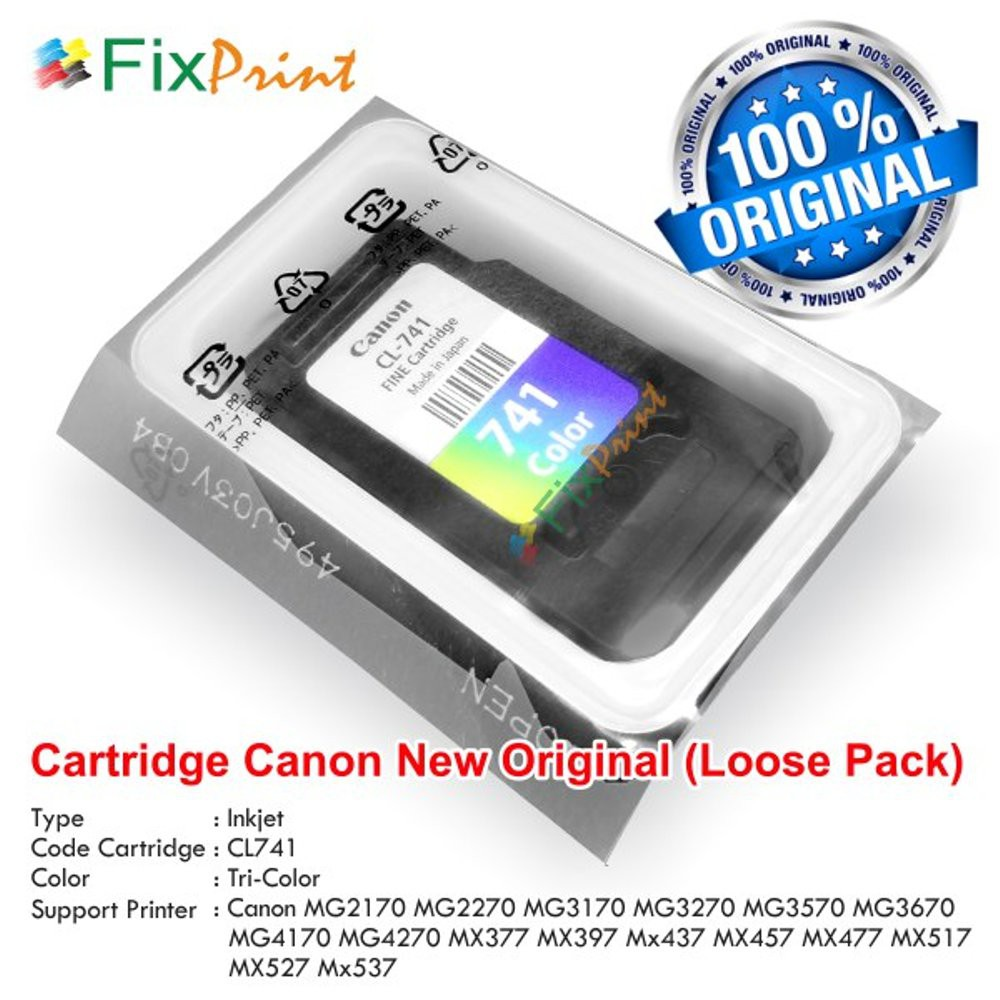Cartridge Original Canon Cl 811 Cl811 Color Loose Pack Tinta Catridge Katrid Ip2770 Mp237 Mp245 Mp258 Printer 2772 Shopee Indonesia