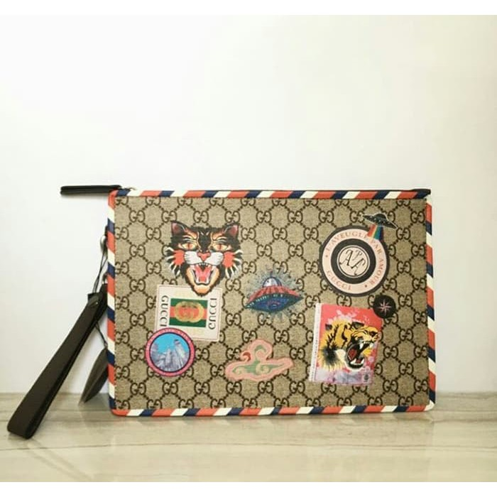 84ebff4f4 Gucci Makeup Pouch Authentic VIP Counter Gift Size L Limited | Shopee  Indonesia