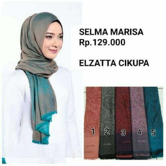 Pashmina Elzatta Selma Marisa Original Disc 30persen Shopee Indonesia