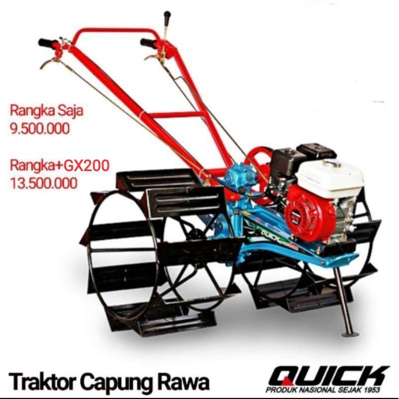 QUICK HONDA Mesin Bajak Sawah Capung Traktor QUICK + Mesin Honda ASLI GX 200