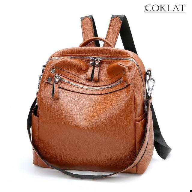Backpack Vannesa Kpop Idol Style Tas Wanita Kulit Import Tanpa