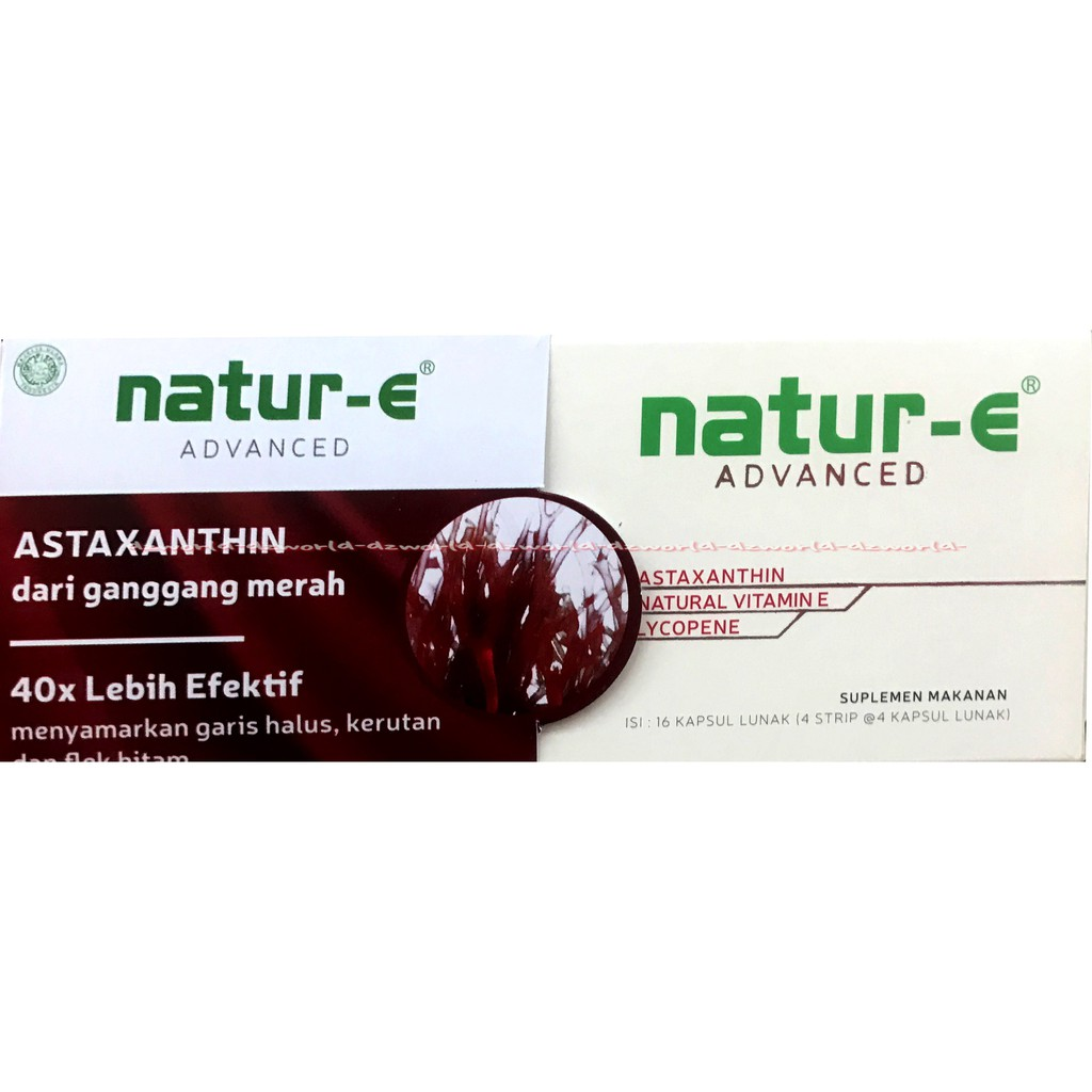 Natur E Advanced Formula Vitamin With Natural Astaxanthin 32 100 Iu Kapsul Per Box Atau Dus Dos Multivitamin Kulit Dari Ganggang Merah Nature 40x Shopee Indonesia