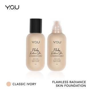 YOU Basic Collection  Flawless Radiance Skin Foundation [All Day Light Wear & Perfect Coverage]