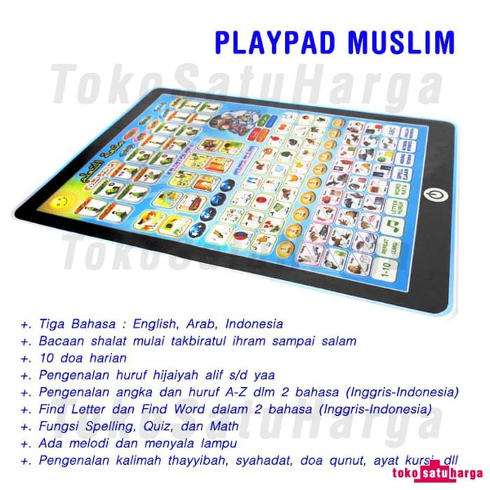Tata Mainan Playpad Muslim 4 Bahasa ipad sholat | Shopee Indonesia