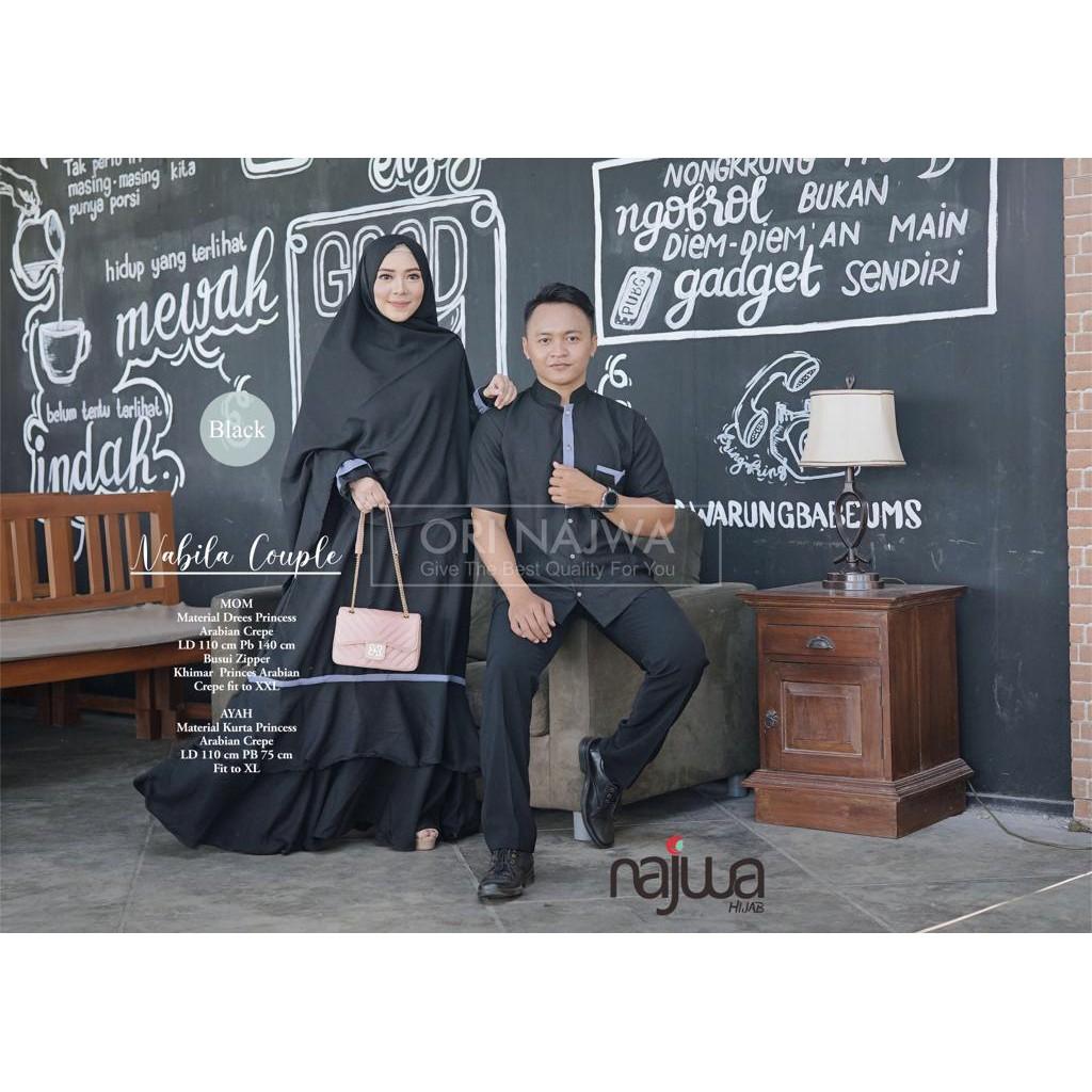 Busana Muslim Nabila Family Couple / Baju Muslim Keluarga Good Quality  Harga Murah Meriah
