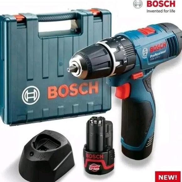 Mesin Bor Tembok Baterei Bosch Gsb120 Bor Cordless Bot Beton Portable Restitiar78