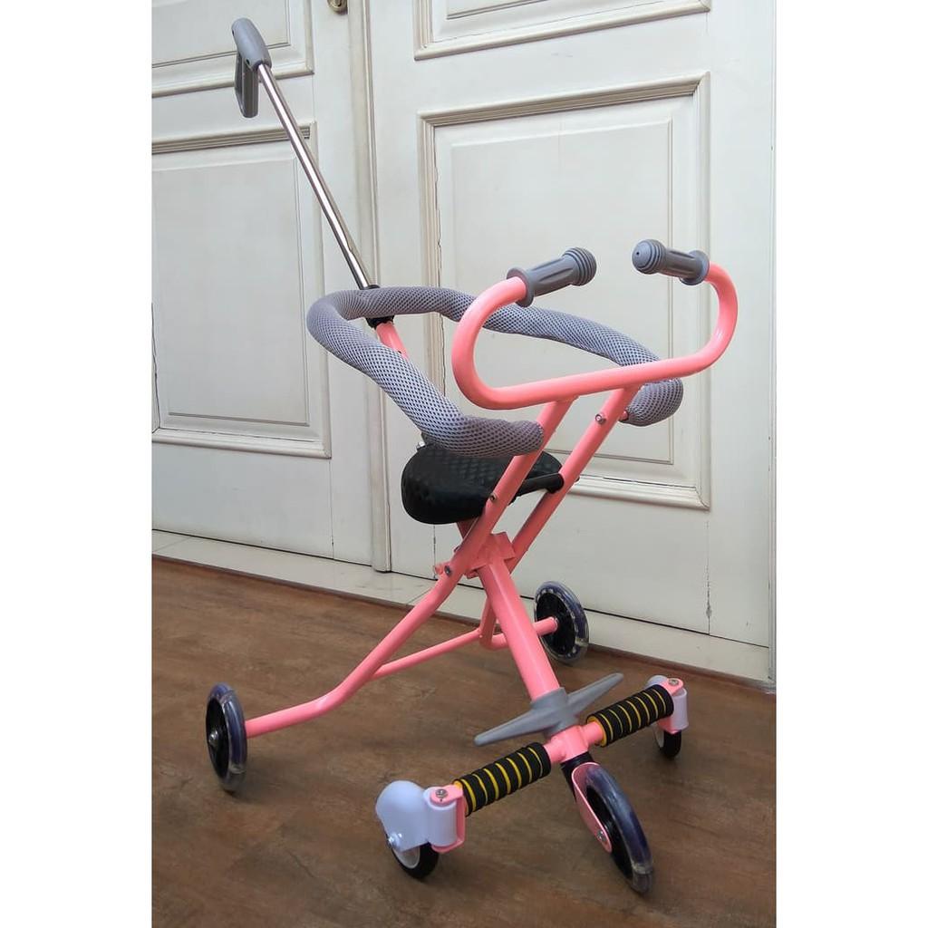Ready Micro Trike Variasi Roda 3 Dan 5 Ada Talinya Rem Magic Stroller Balita Bayi Shopee Indonesia