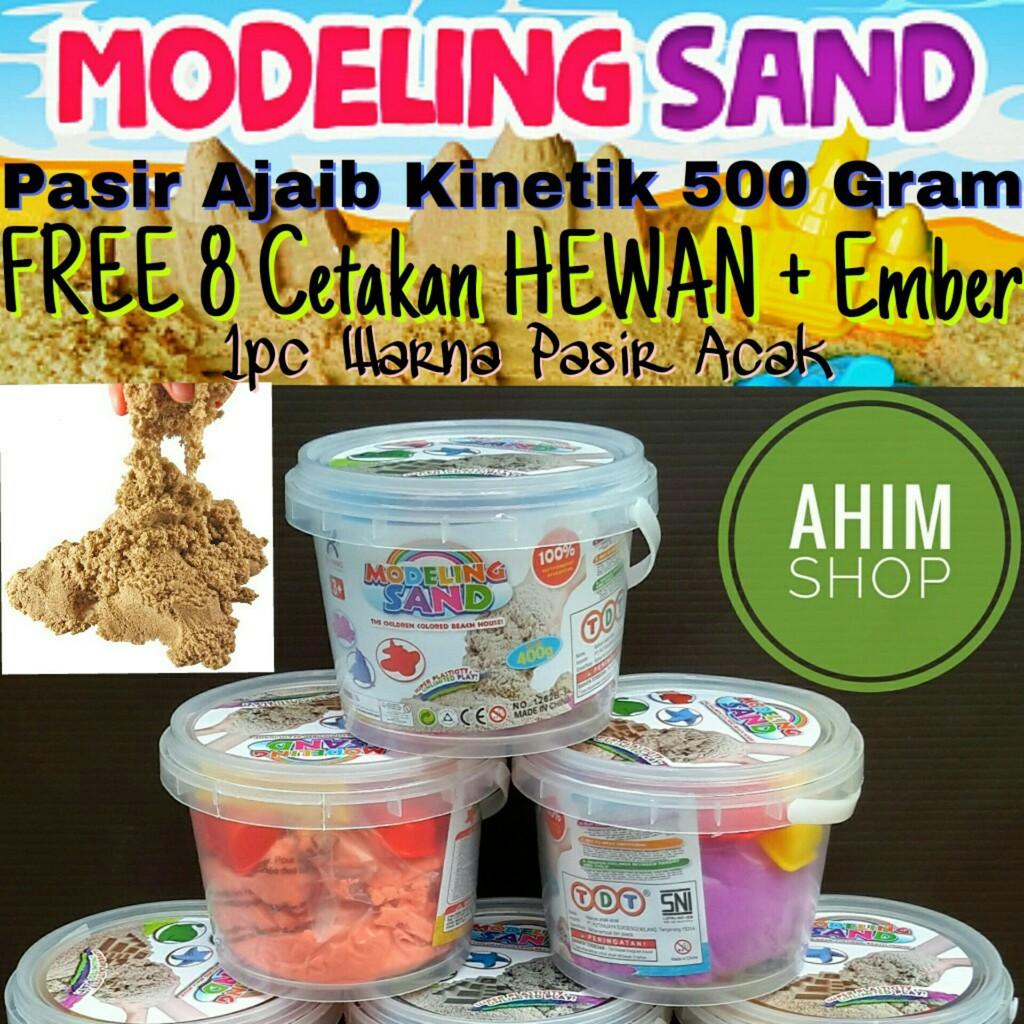 Mainan Edukasi Anak Pasir Kinetik Ajaib / Magic Modeling Sand 2 Warna Wadah Timba Plus Cetakan | Shopee Indonesia