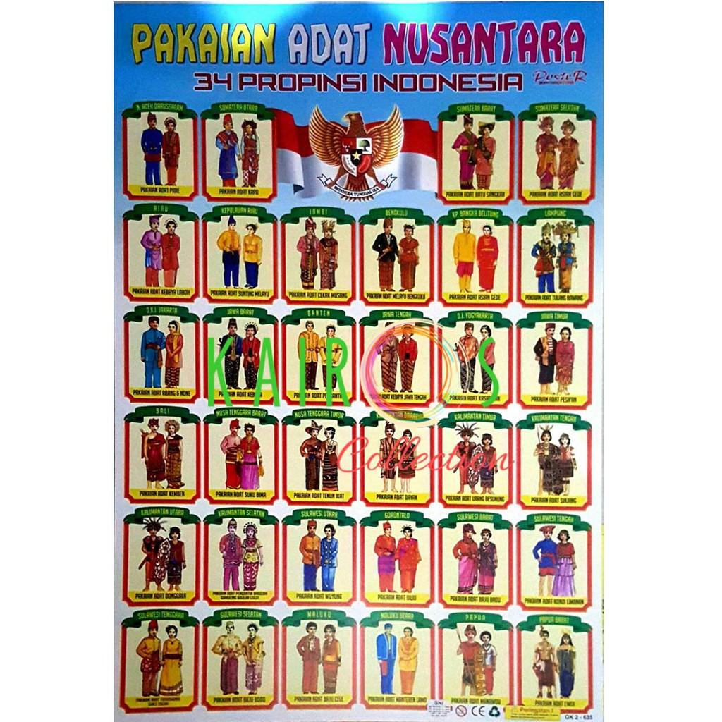 Poster Pakaian Adat 34 Provinsi