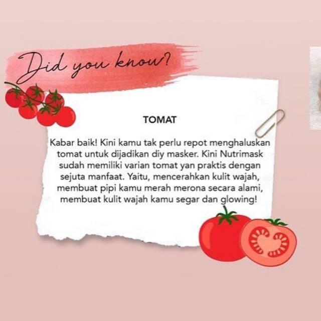 Best Seller Masker Tomat Masker Organik Nutrimask Original Masker Pencerah Wajah By Nutrilash Shopee Indonesia