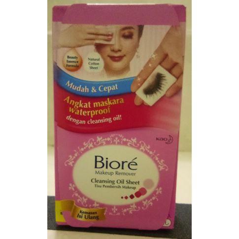 ... Biore Cleansing Oil Sheet Makeup Make Up Remover Box / Refill 44'S 44 Sheet Pembersih Make ...