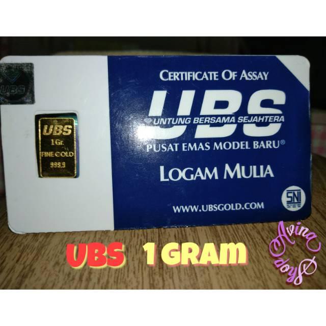 Emas Batangan Ubs 1 Gram Shopee Indonesia