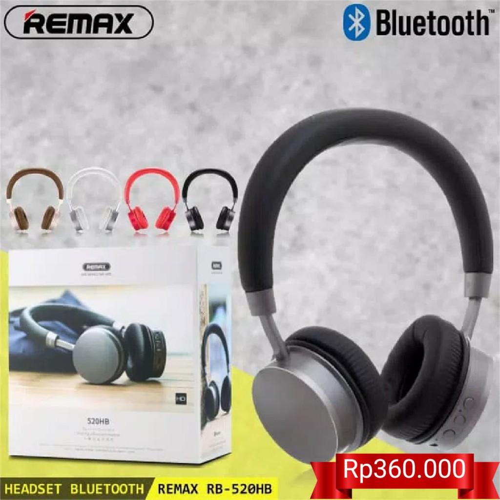 Headset Headphone Bluetooth Remax RB-520HB Super Bass Stereo ORIGINAL