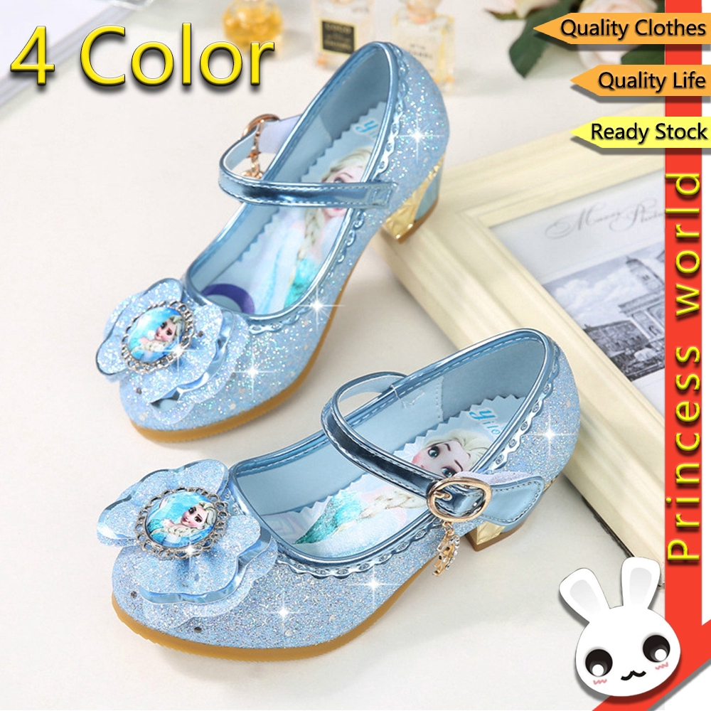 Gadis Frozen Elsa Ratu Sepatu Hak Tinggi Putri Lembut Sepatu