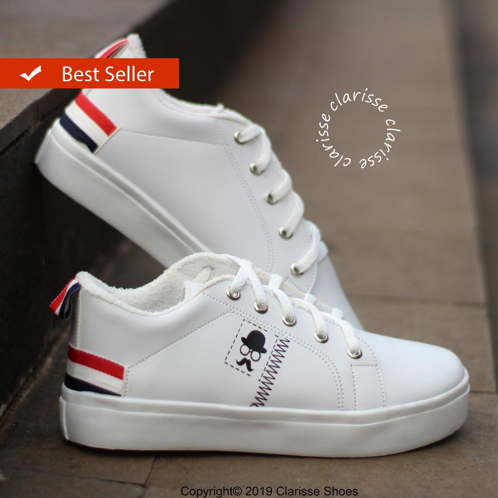 Clarisse Sneakers Putih Wanita France Kumis Realpic Sepatu Kets