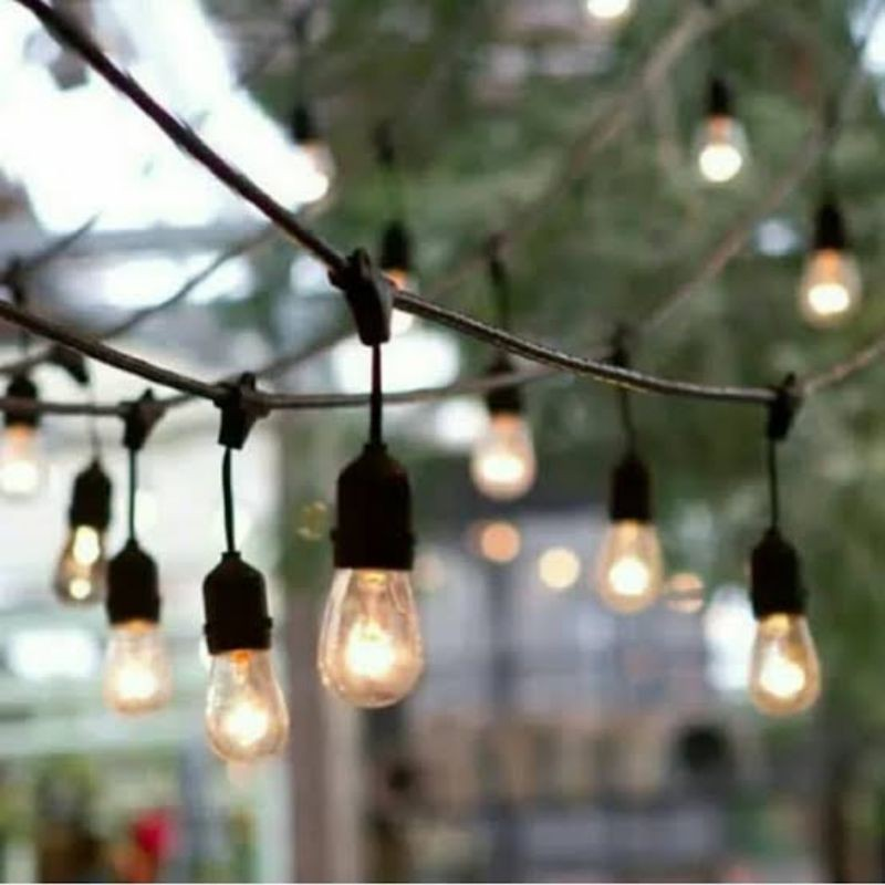 Kabel Fiting Lampu Gantung Outdoor Lampu Cafe Lampu Taman 20 Meter Shopee Indonesia