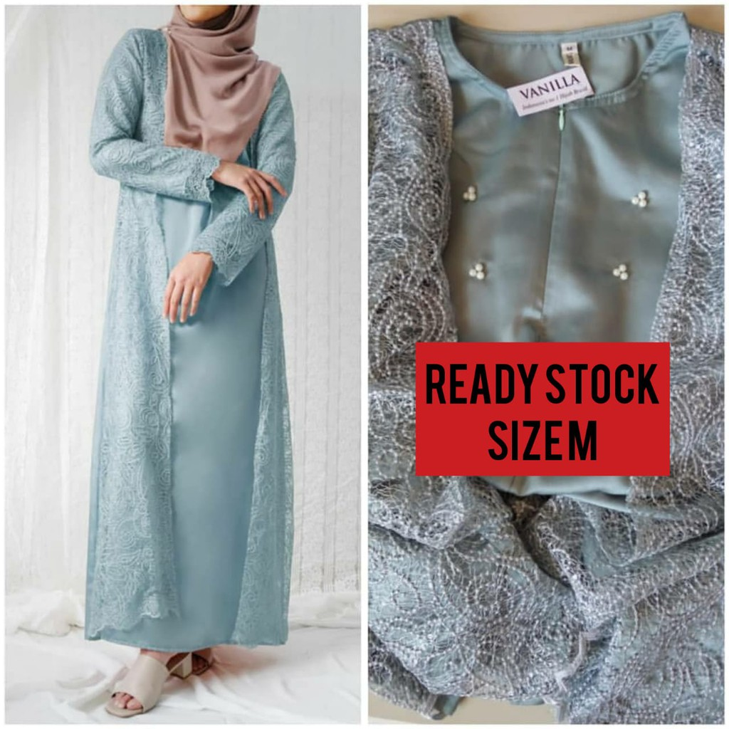 (Misty blue M) Ayana dress by vanilla hijab NEW vanillahijabofficial binar kids navy dress 4 5 6 7