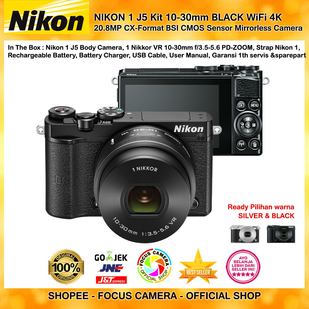 Dapatkan Harga Undefined Diskon Shopee Indonesia Nikon 1 J5 Kit 10 30mm Kamera Mirrorless Paket