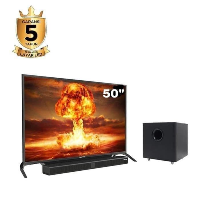POLYTRON LED TV 50 INCH PLUS SOUNDBAR LED TV HDMI