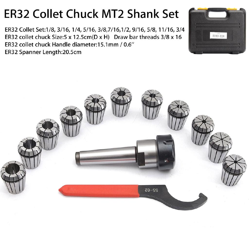 """ER32 1//2/"""" Precision Spring Collets ER-32 Collet For Milling Lathe Metaworking"""