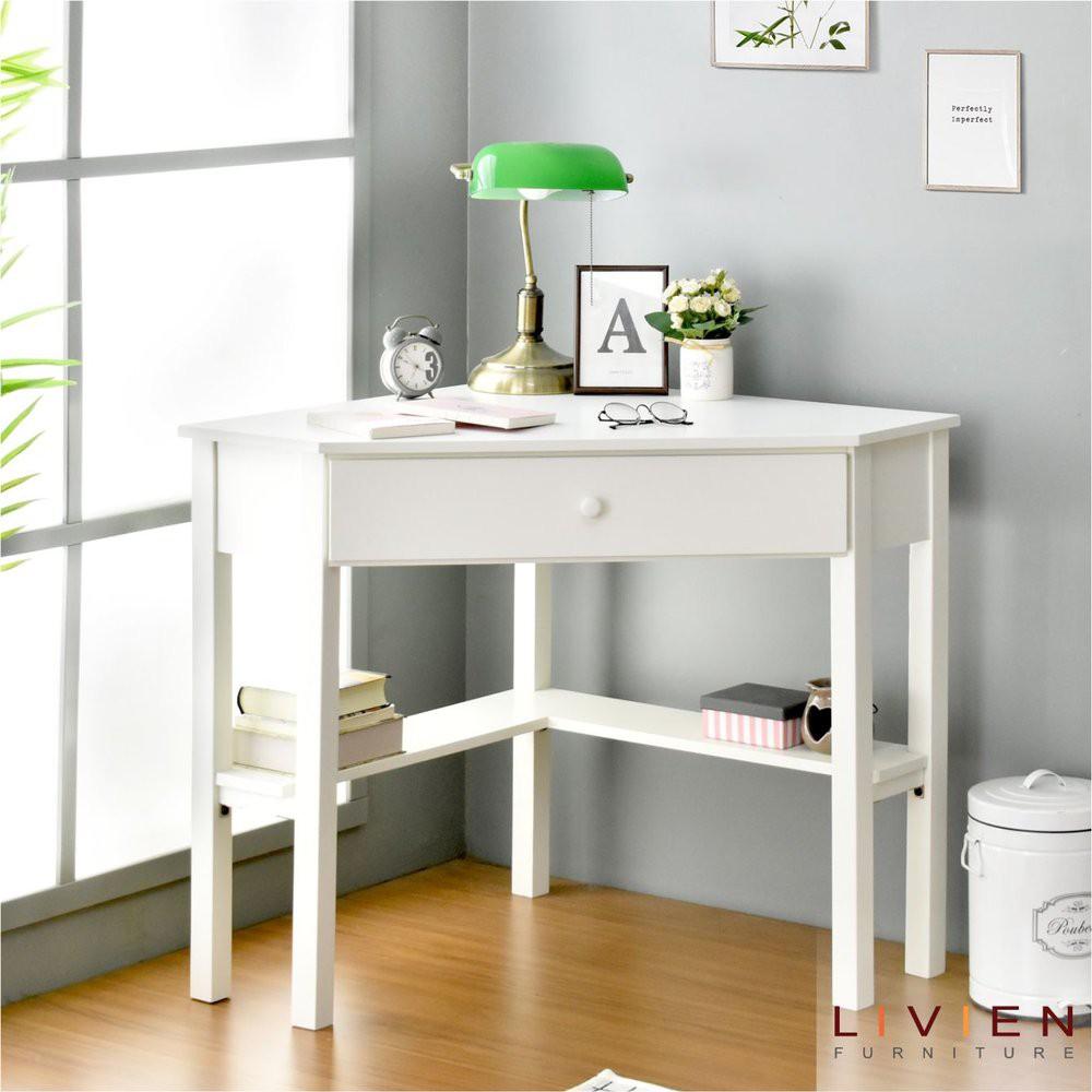 Meja Belajar Sudut Meja Kerja Livien Furniture Limited Shopee Indonesia Meja belajar sudut minimalis