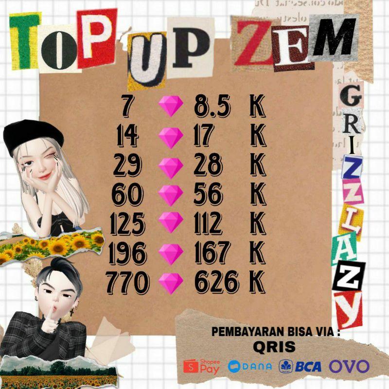 TOP UP ZEM ZEPETO 1OO% LEGAL