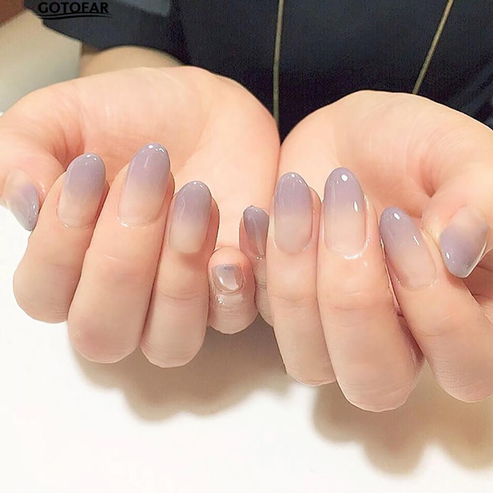 Matte warna Nude kuku Palsu Penuh Nail Ballerina peti mati Palsu nail 24 pcs nail tips